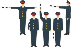 Сигналы и жесты регулировщика в картинках с пояснениями